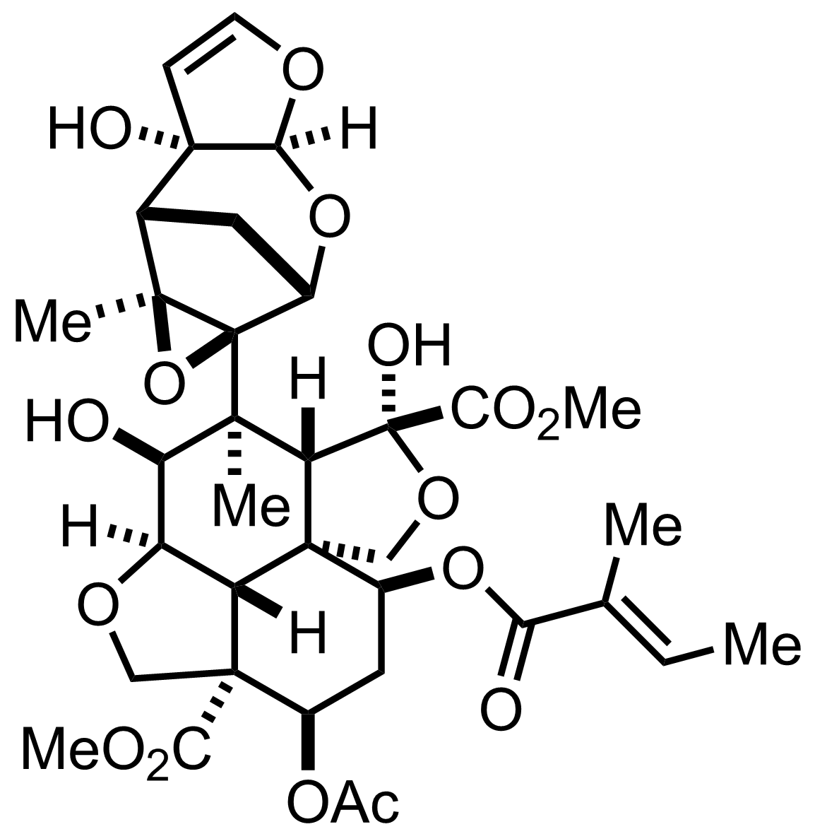 Structure of Azadirachtin