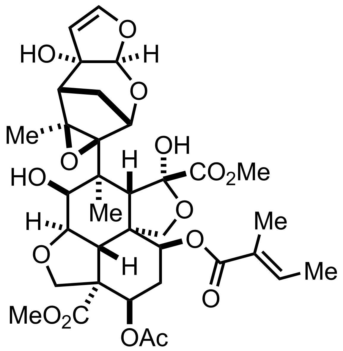 Azadirachtin structure