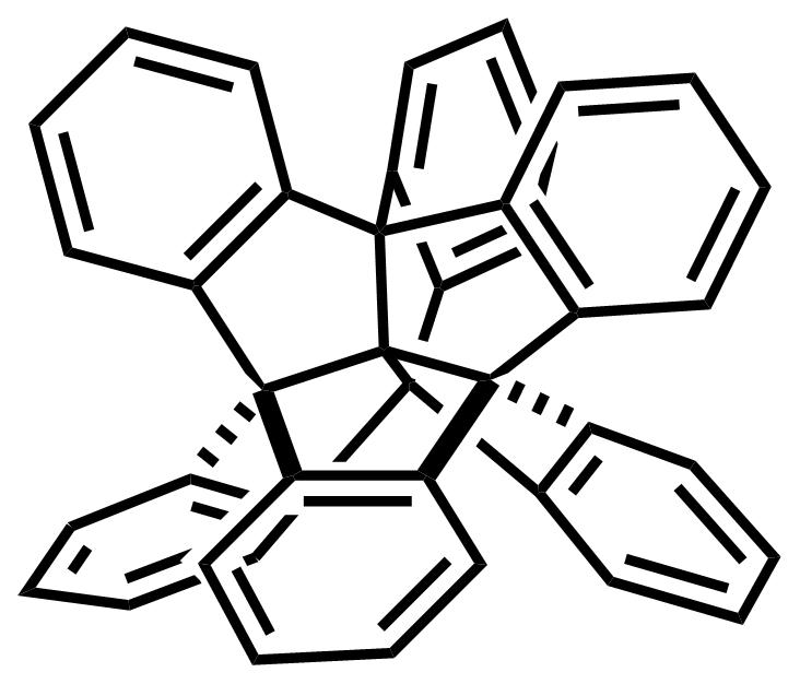 Centrohexaindane structure