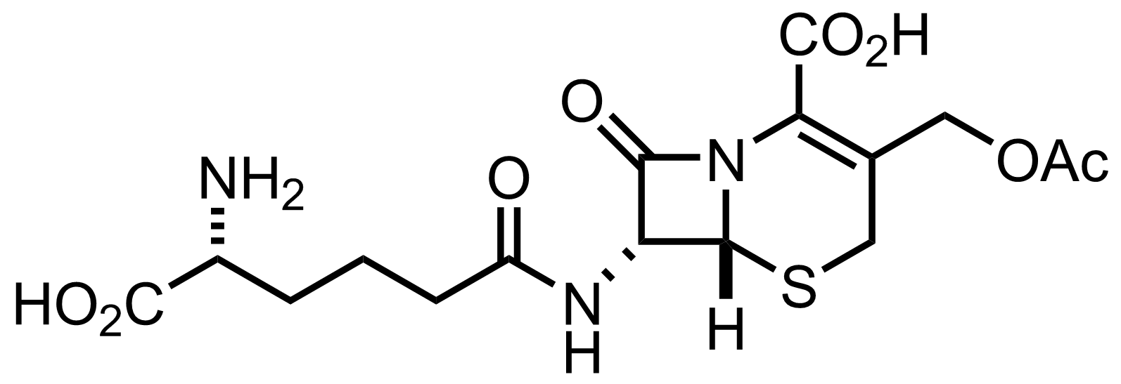Cephalosporin C1 structure