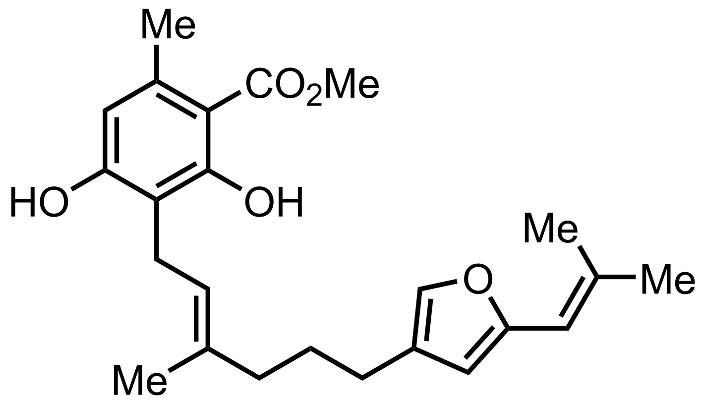 Structure of Cristatic Acid, Methyl Ester