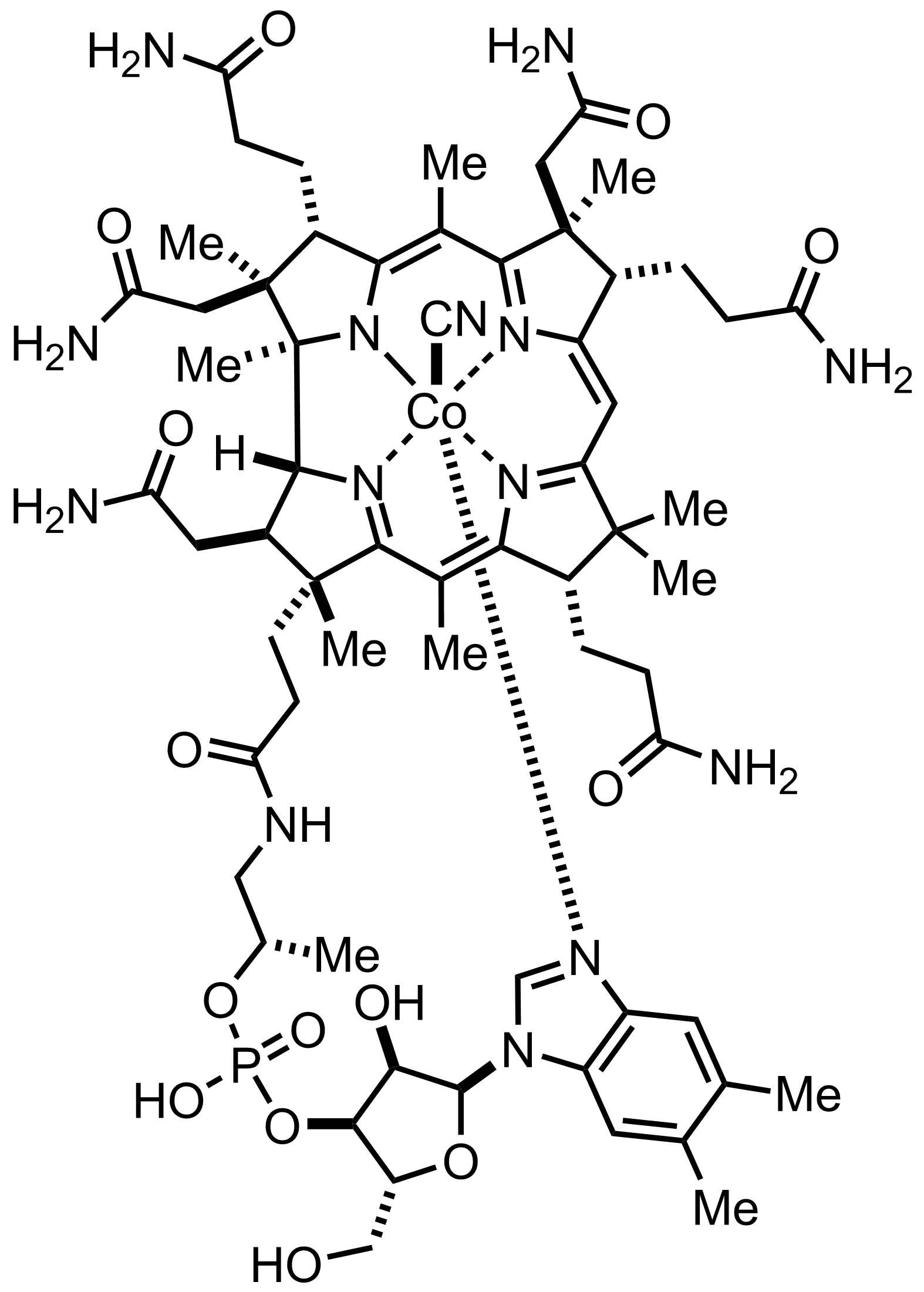 Cyanocobalamin structure