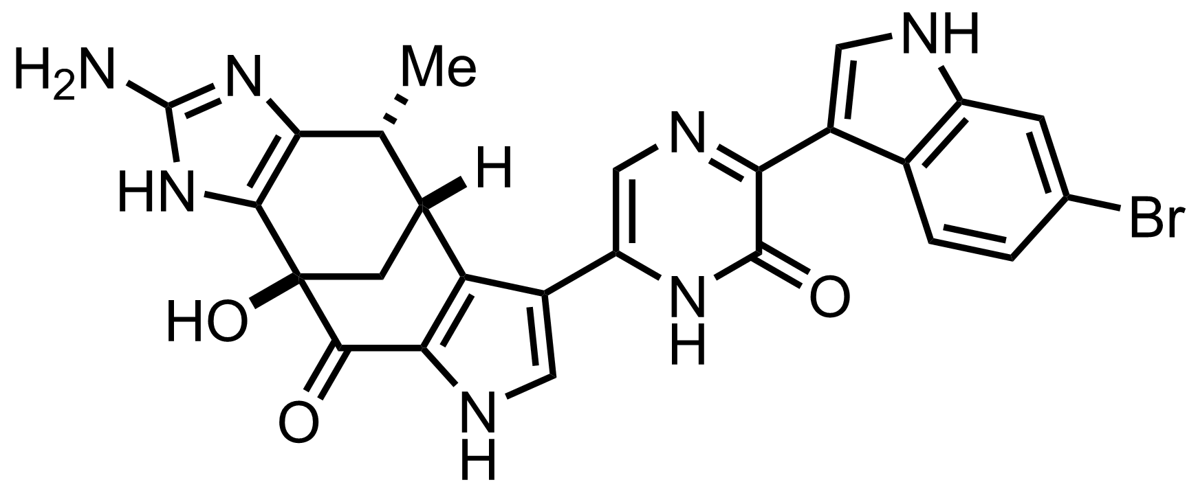 Structure of Dragmacidin F