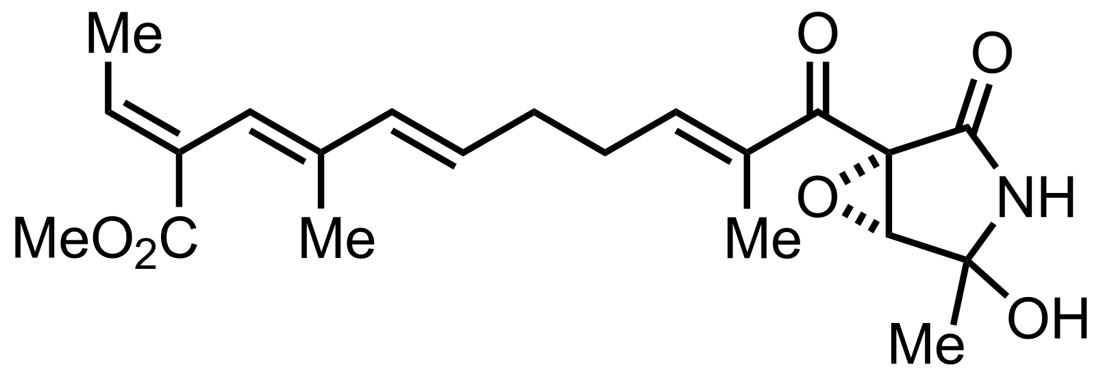 Structure of Epolactaene