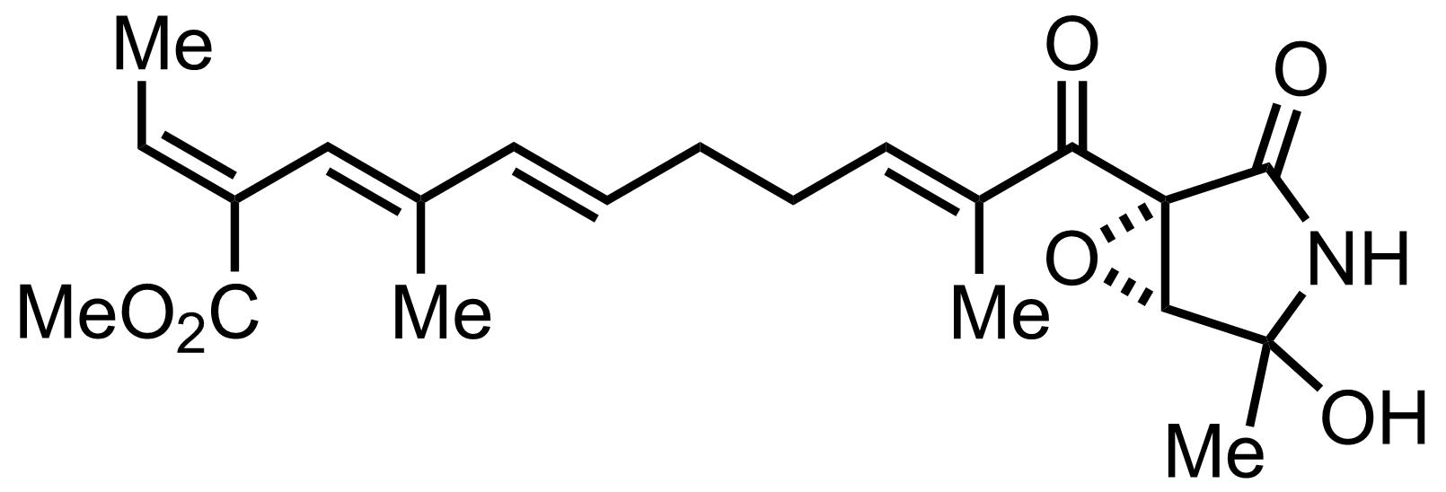 Structure of Epolactaene
