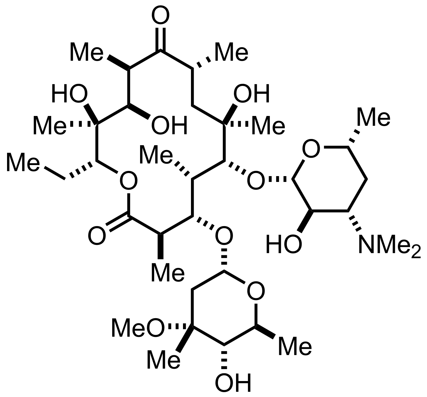 Structure of Erythromycin A
