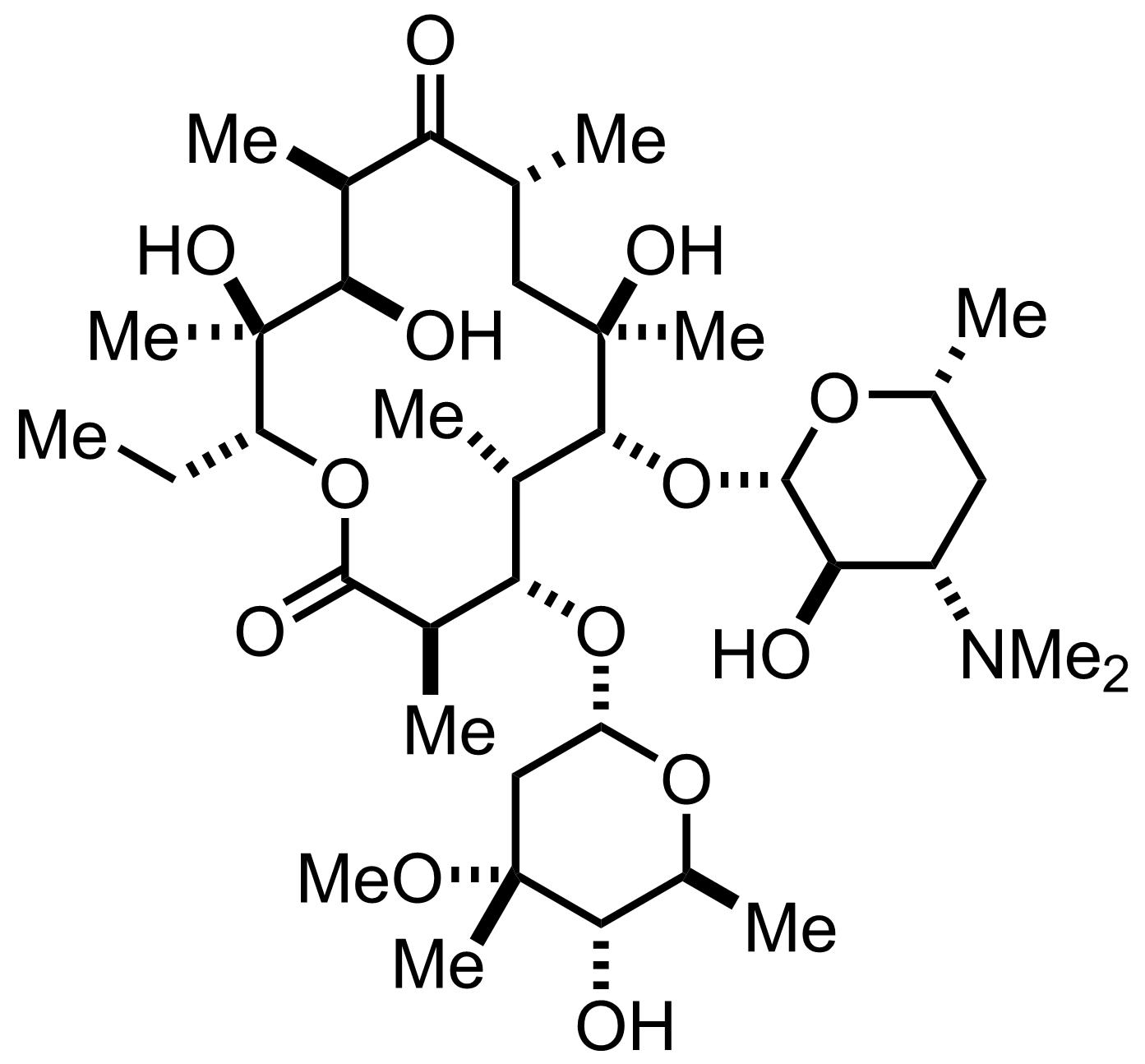 Erythromycin A structure
