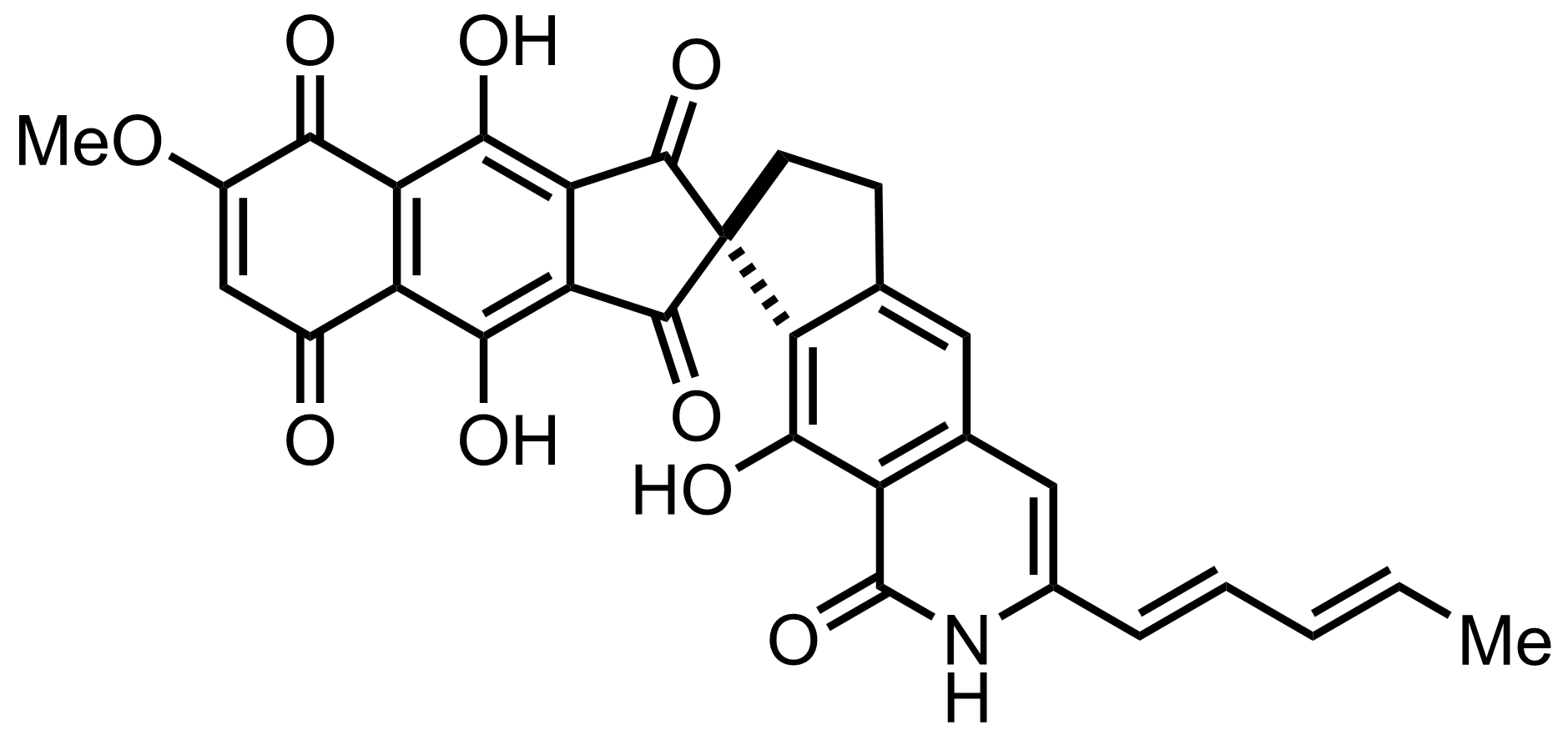 Structure of Fredericamycin A