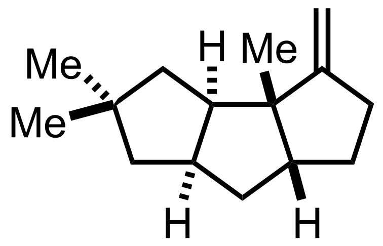 Structure of Hirsutene