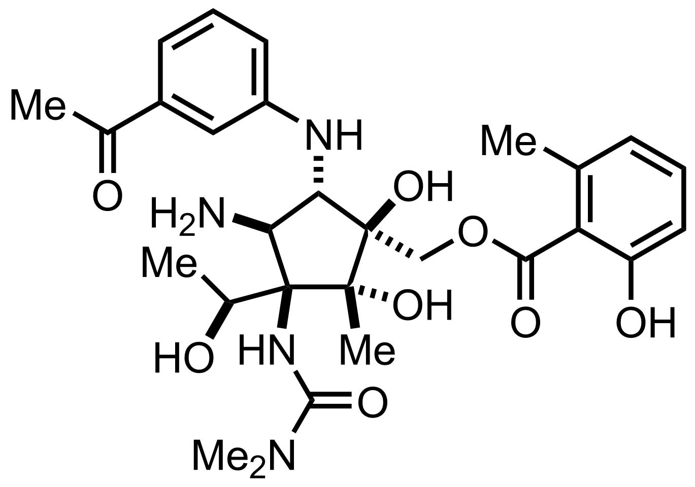 Pactamycin structure