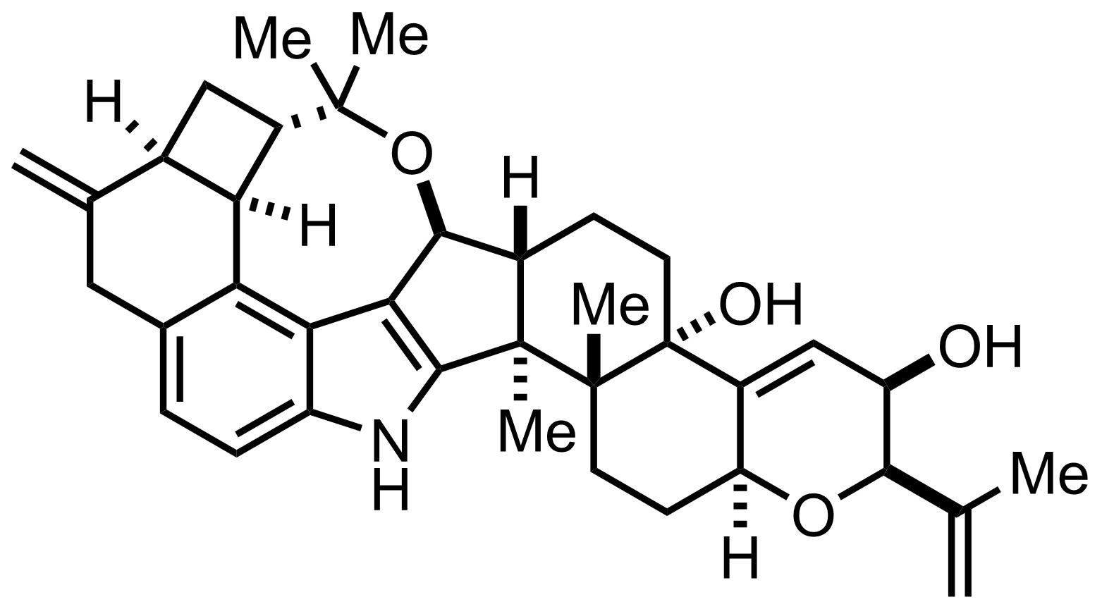 Penitrem D structure