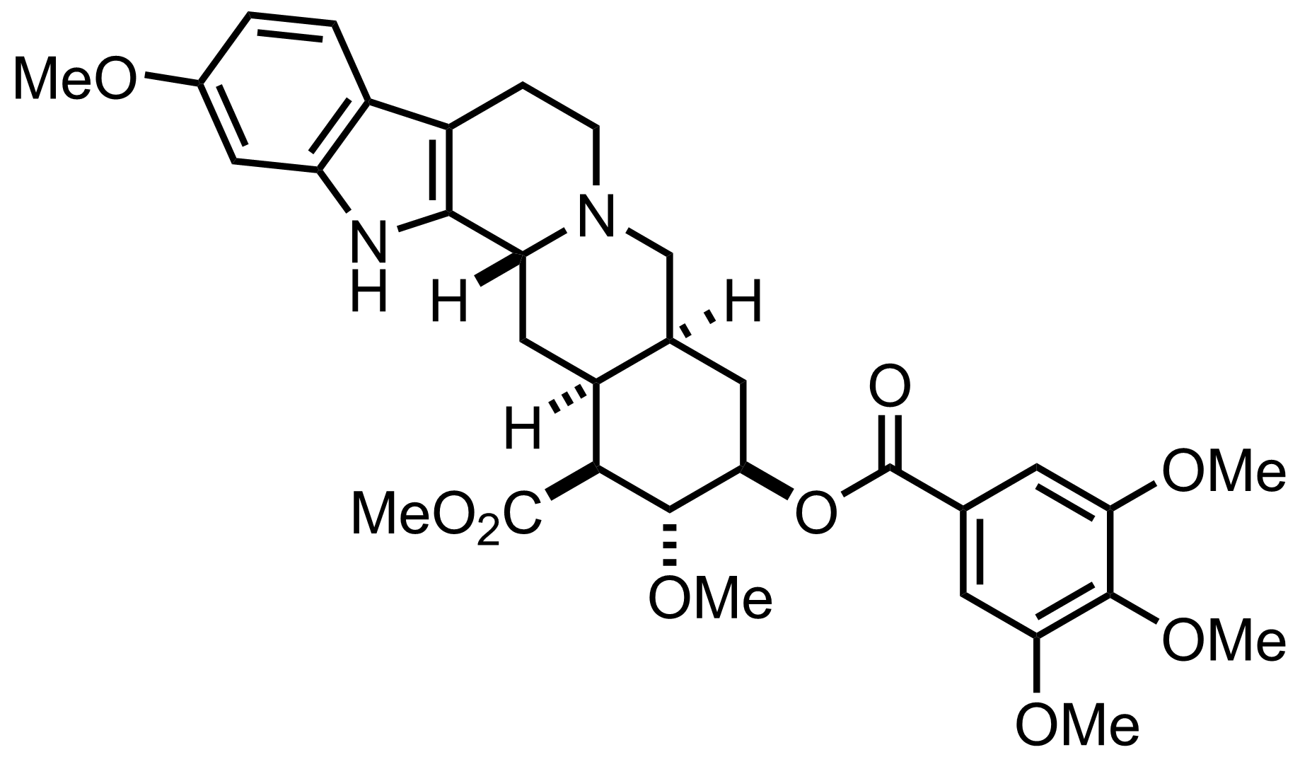 Reserpine structure