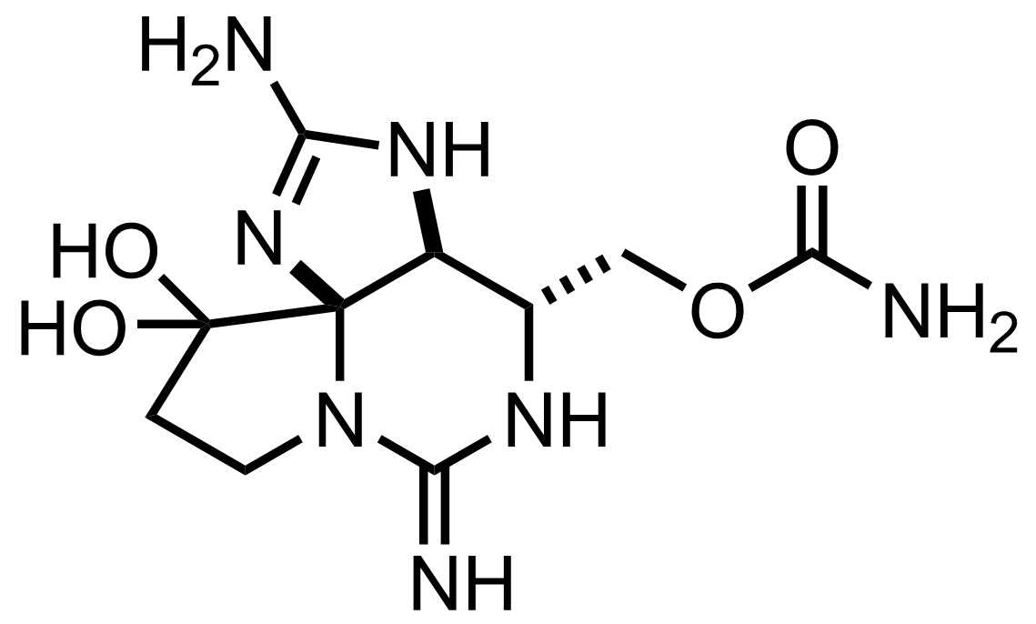 Saxitoxin structure