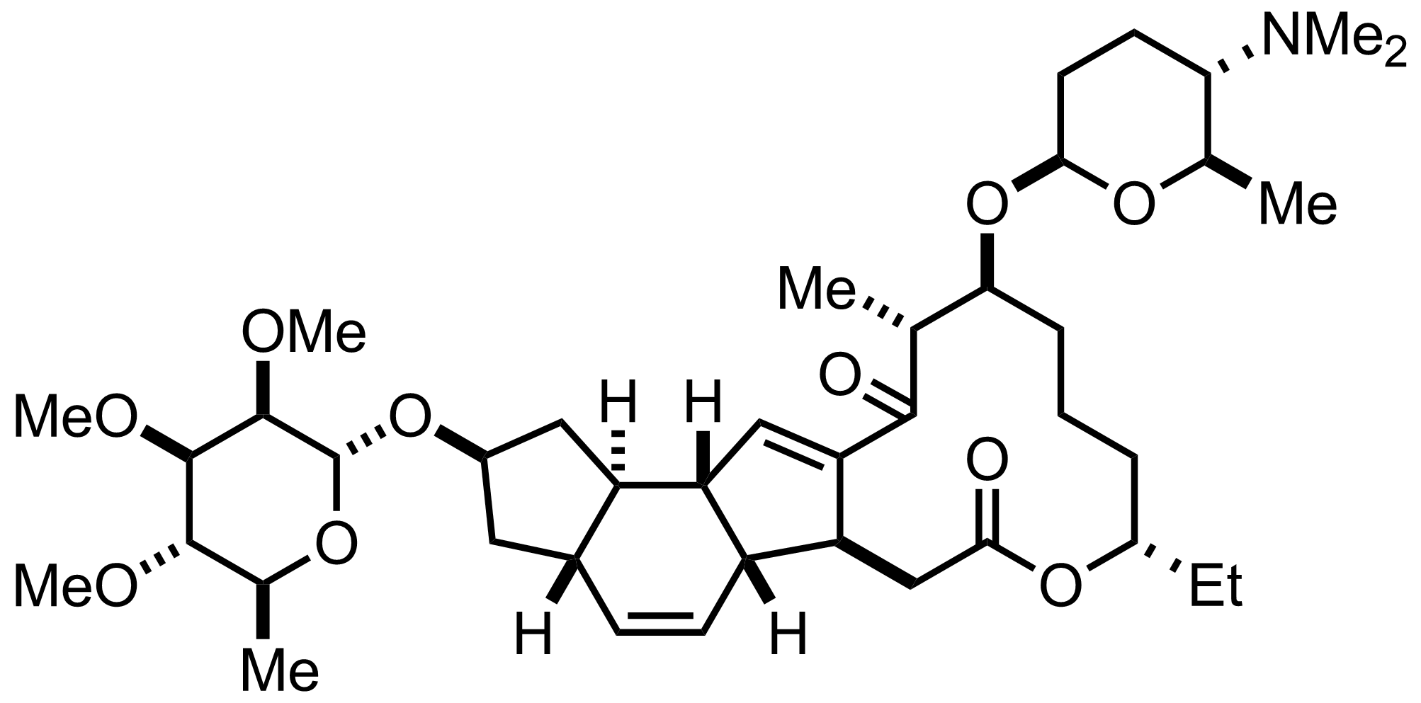 Spinosyn A structure