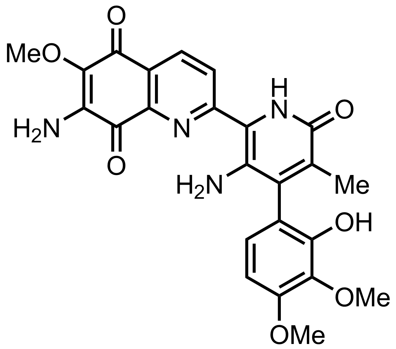 Structure of Streptonigrone
