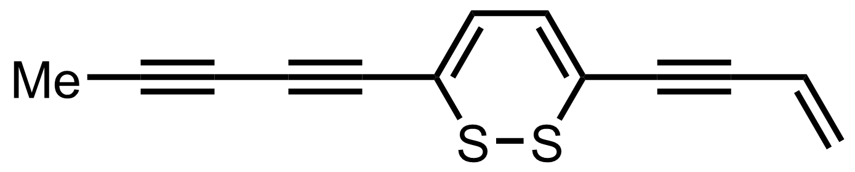 Structure of Thiarubrine B