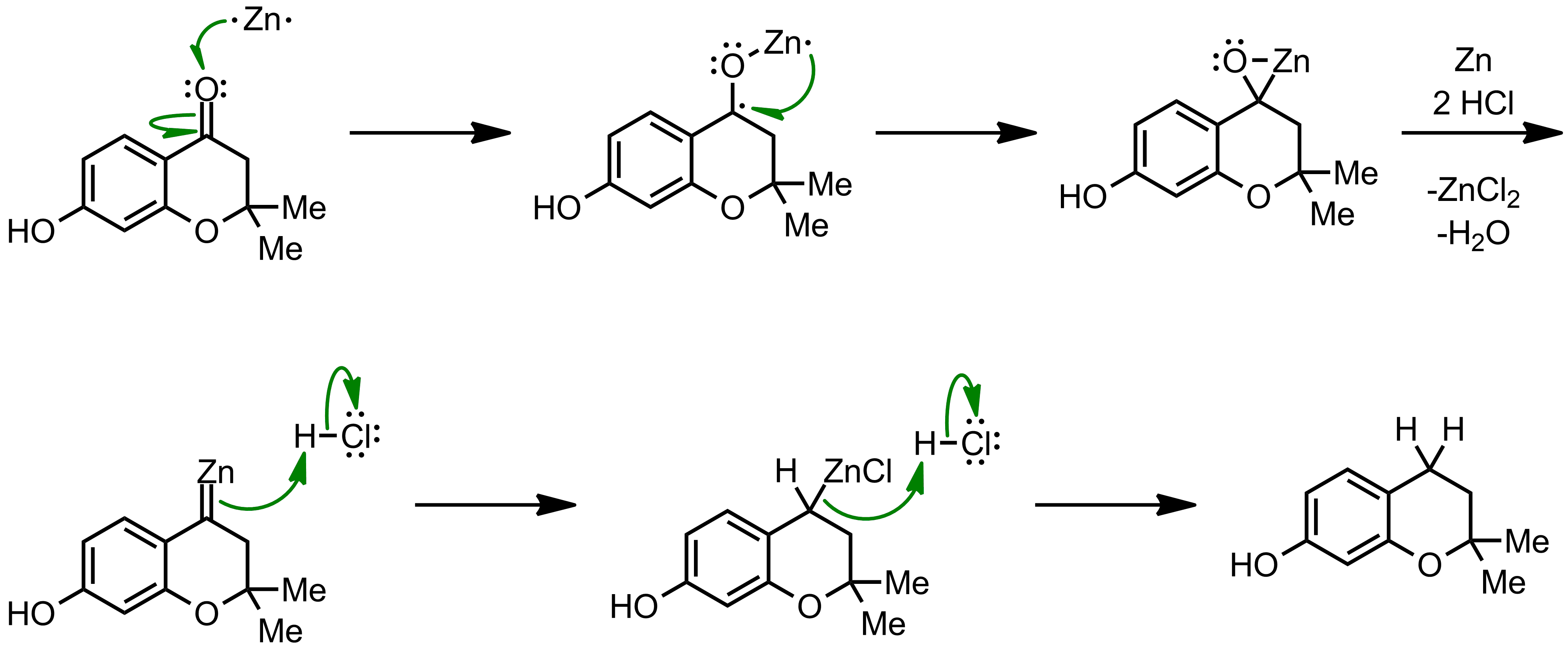 Mechanism of the Clemmensen Reduction