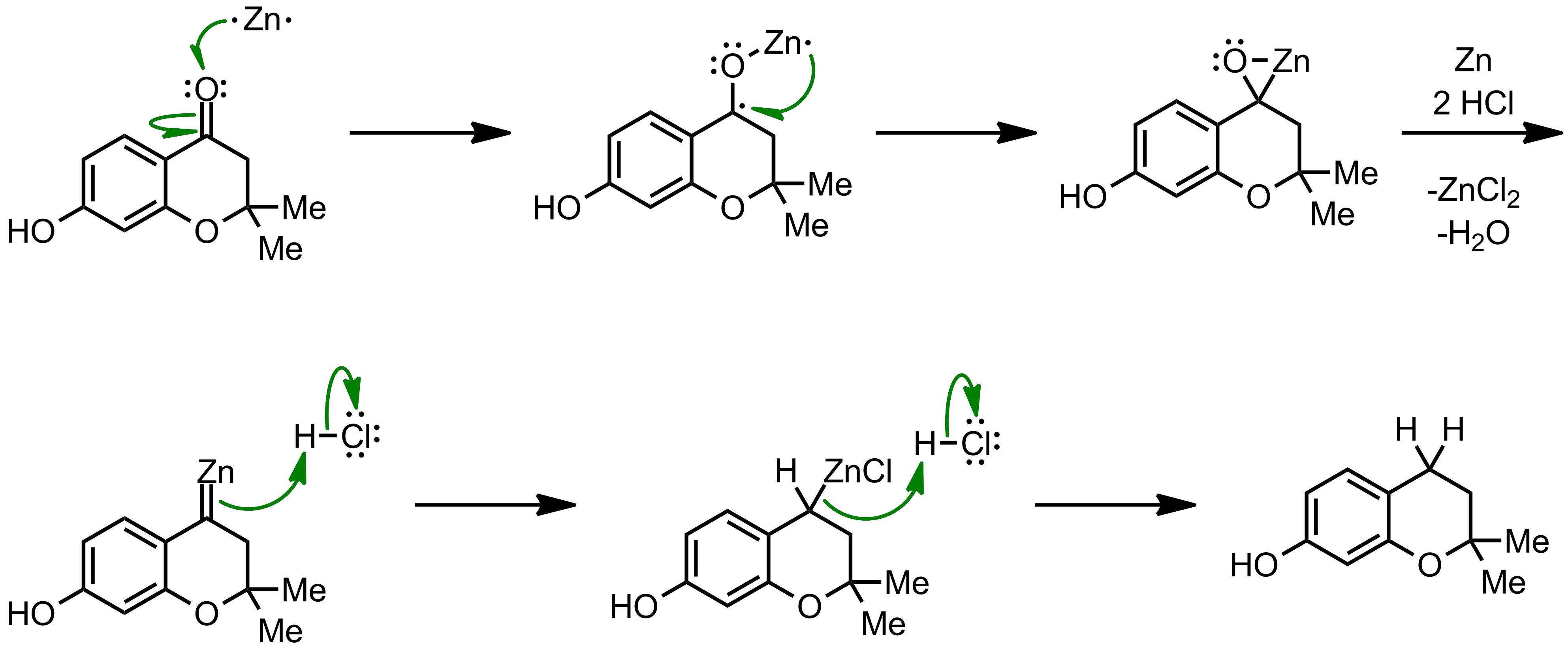 Mechanism of the Clemmensen Reduction