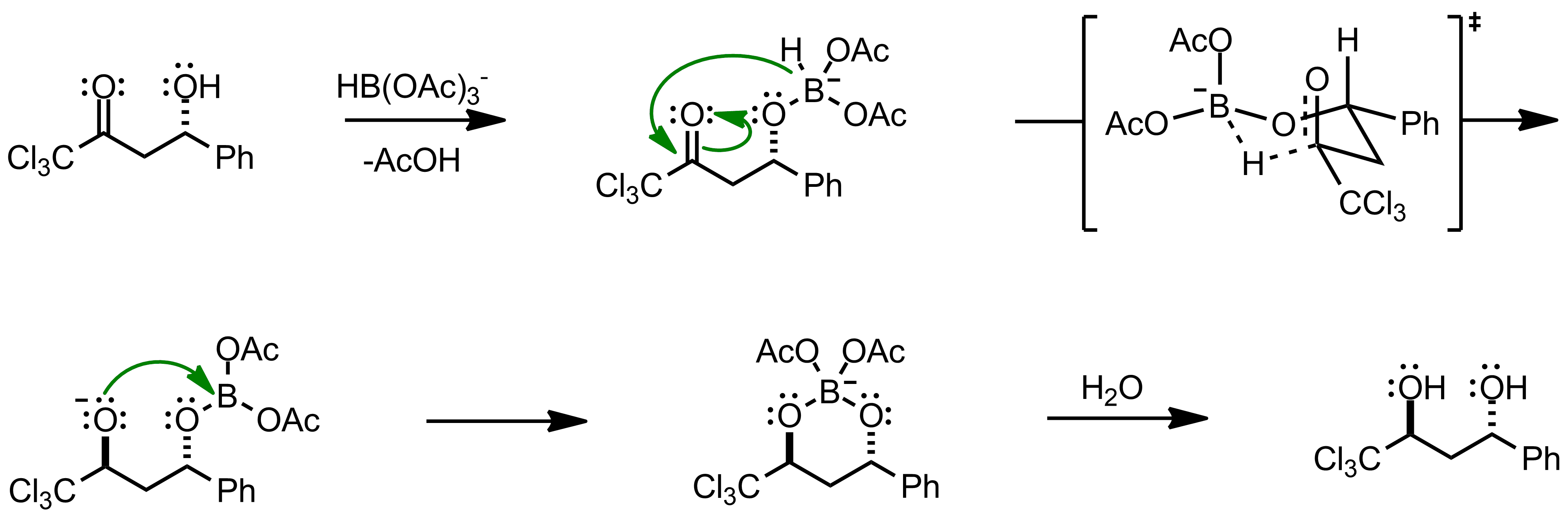 Mechanism of the Evans-Saksena Reduction