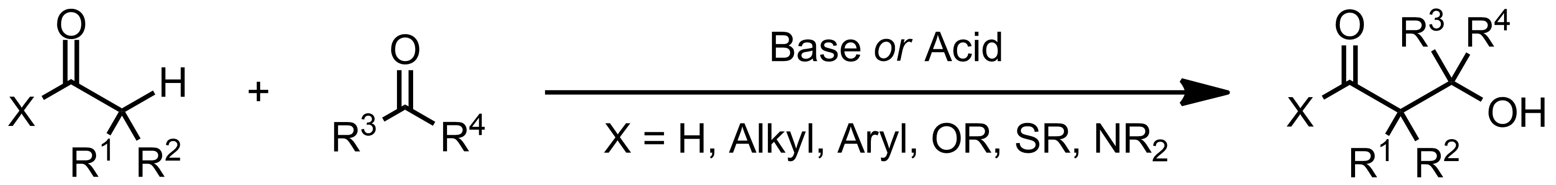 Schematic representation of the Aldol Addition.