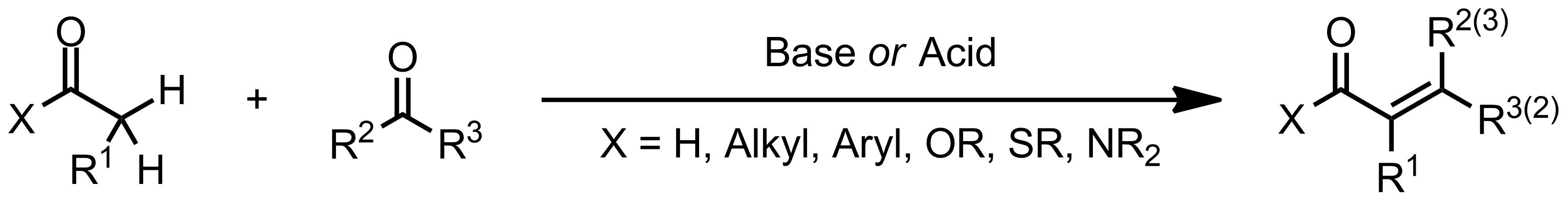 Schematic representation of the Aldol Condensation.