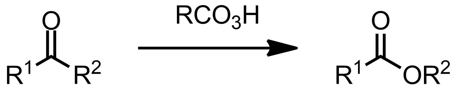 Schematic representation of the Baeyer-Villiger Oxidation.