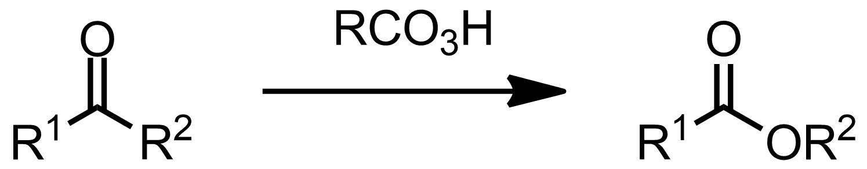 Schematic representation of the Baeyer-Villiger Oxidation.