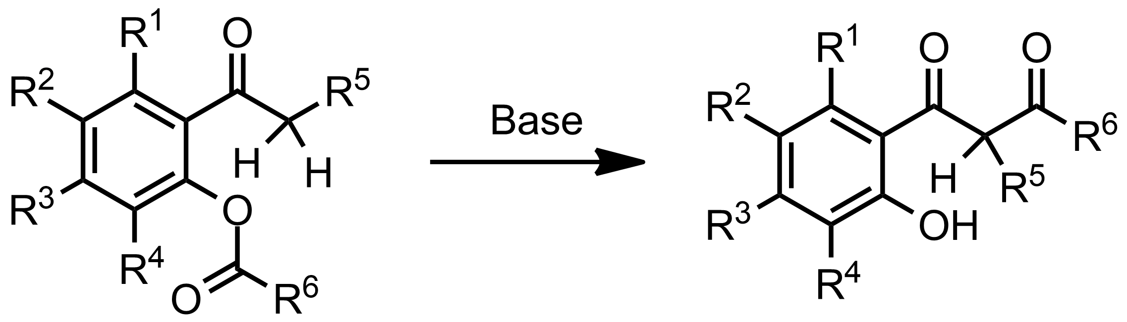 Schematic representation of the Baker-Venkataraman Rearrangement.