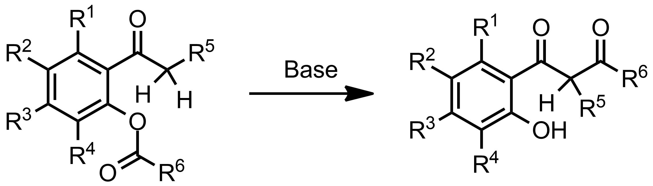 Schematic representation of the Baker-Venkataraman Rearrangement.