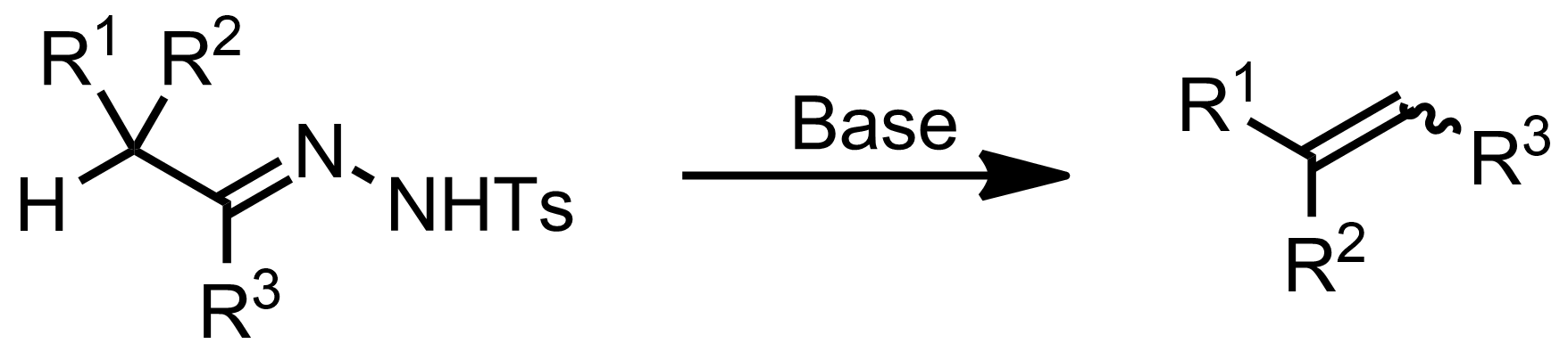 Schematic representation of the Bamford-Stevens Reaction.