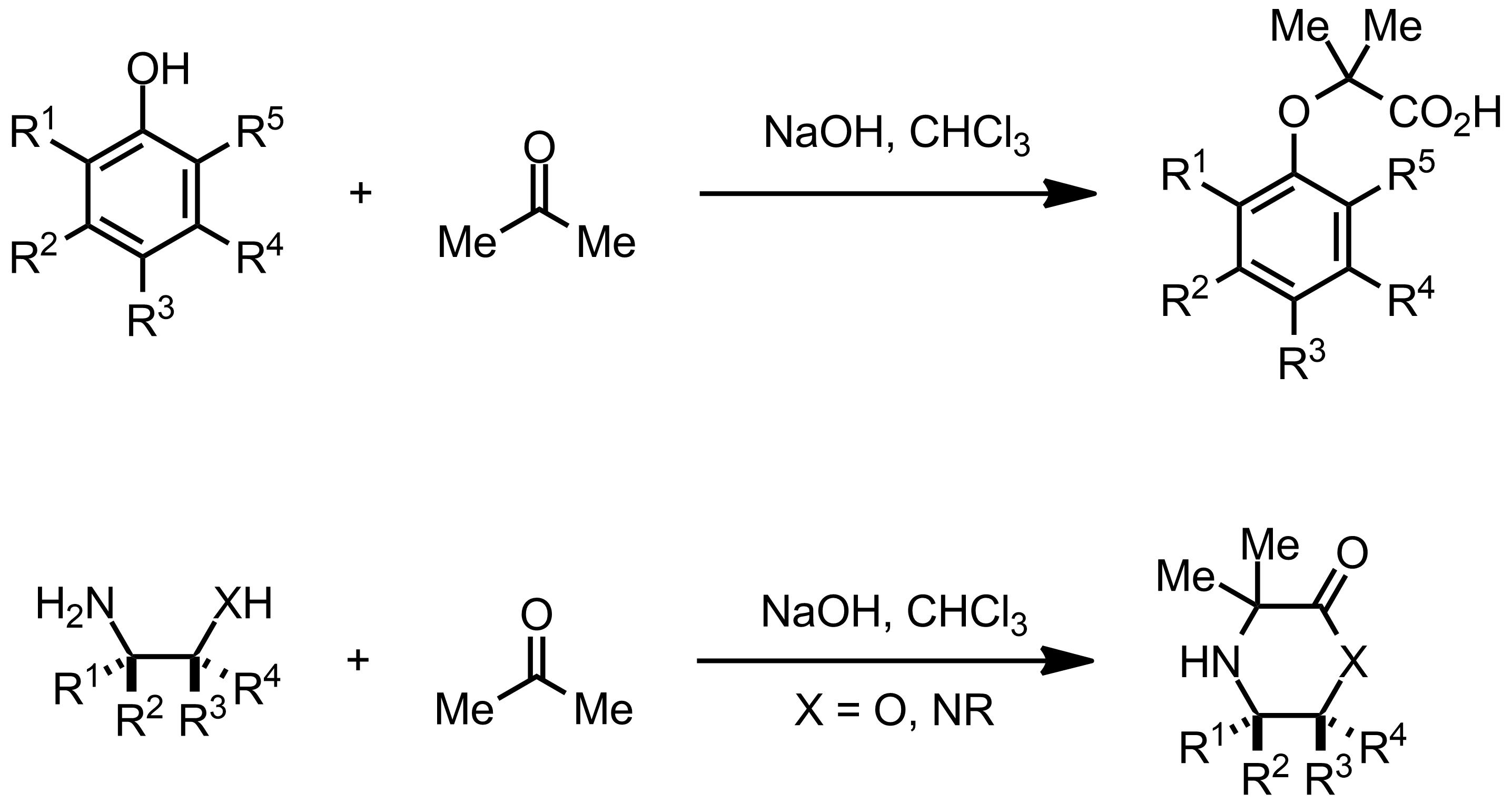 Schematic representation of the Bargellini Reaction.