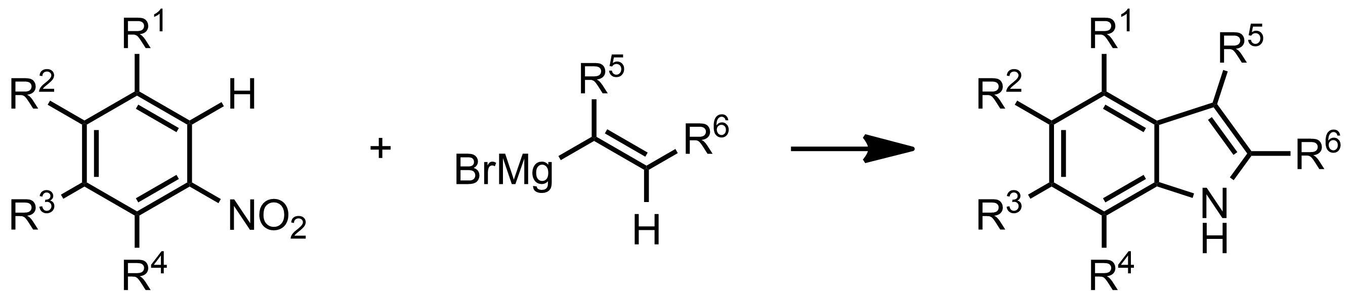 Schematic representation of the Bartoli Indole Synthesis.