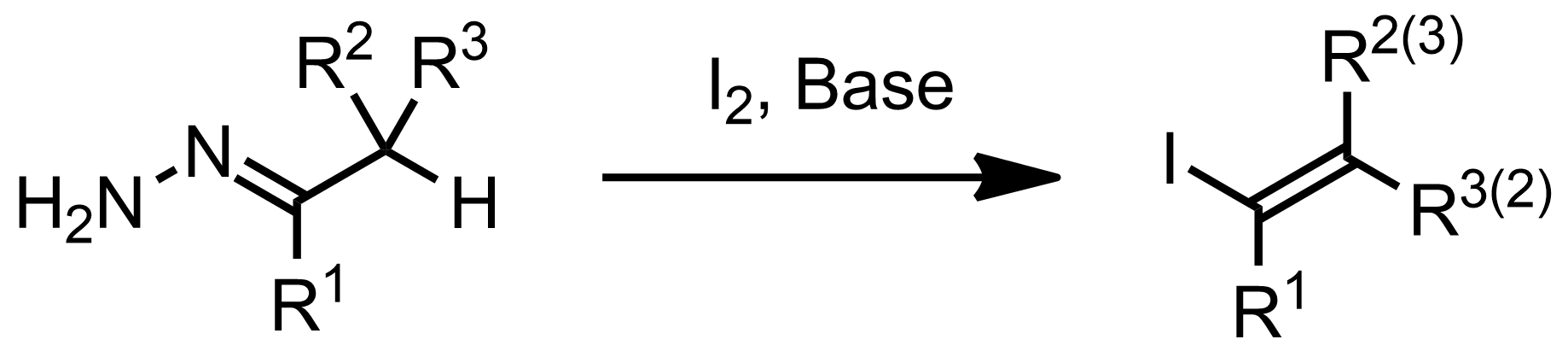 Schematic representation of the Barton Vinyl Iodide Synthesis.