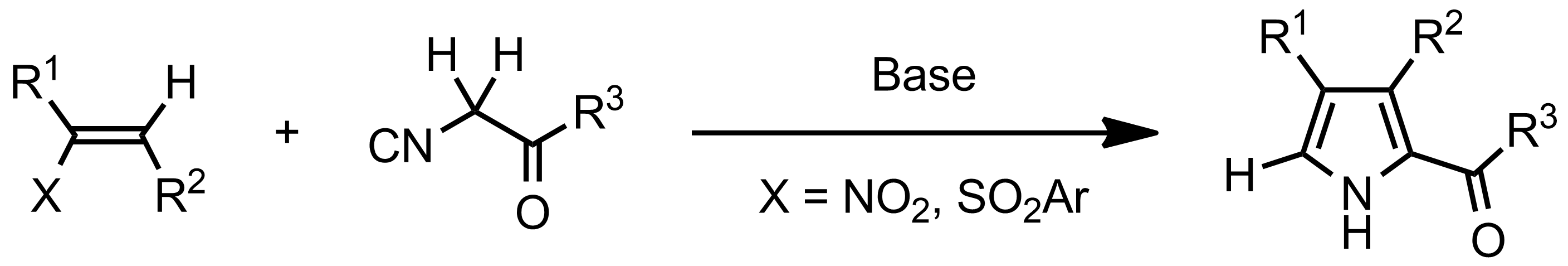 Schematic representation of the Barton-Zard Reaction.
