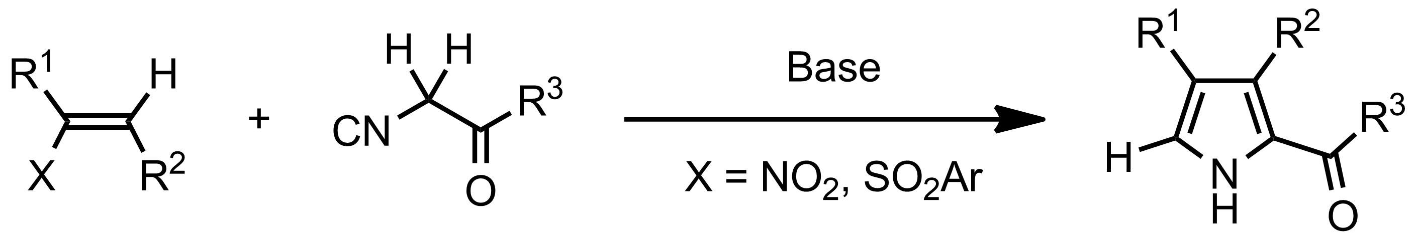 Schematic representation of the Barton-Zard Reaction.