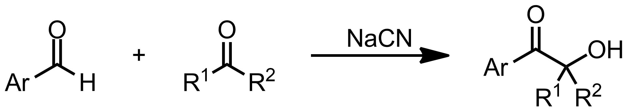 Schematic representation of the Benzoin Condensation.