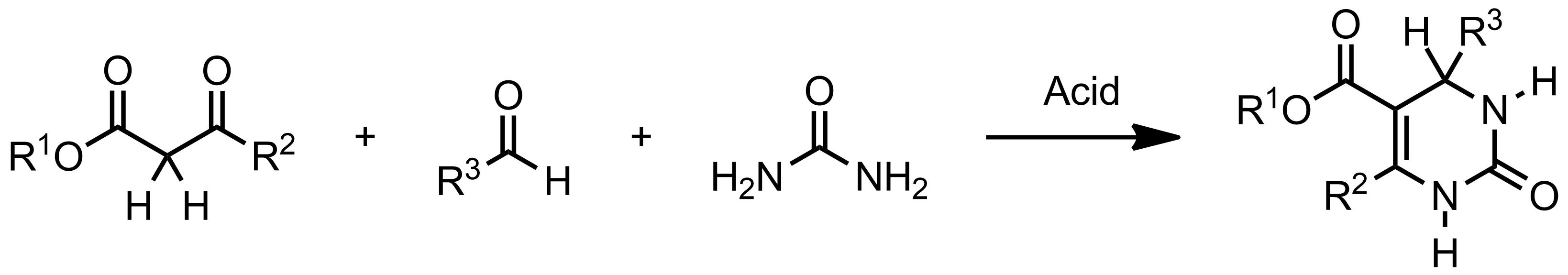 Schematic representation of the Biginelli Reaction.