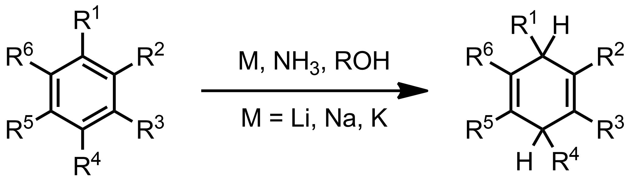 Schematic representation of the Birch Reduction.