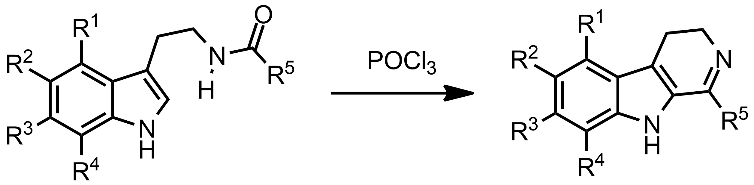 Schematic representation of the Bischler-Napieralski Reaction.