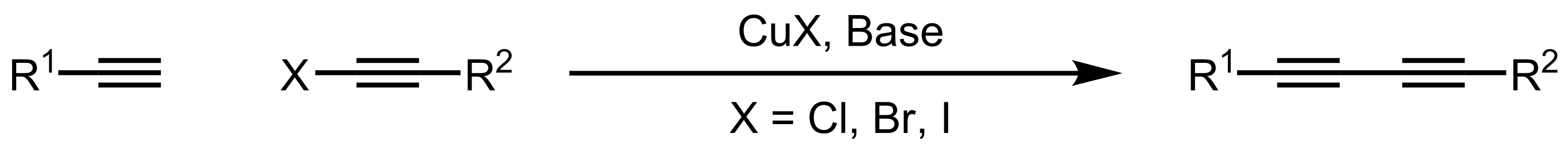 Schematic representation of the Cadiot-Chodkiewicz Coupling.