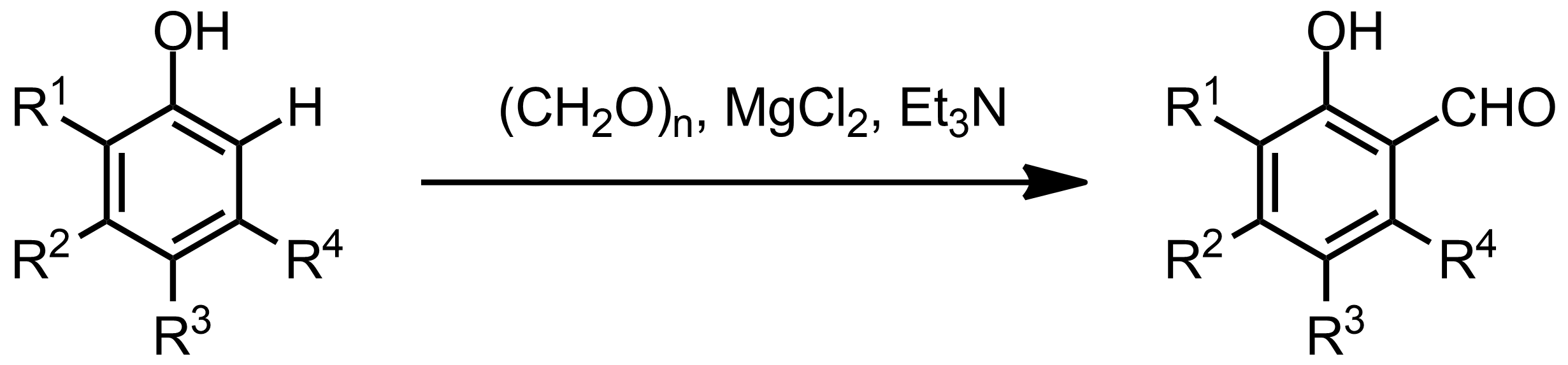 Schematic representation of the Casnati-Skattebøl Formylation.