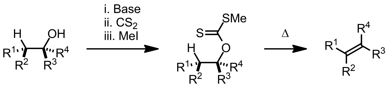 Schematic representation of the Chugaev Elimination.