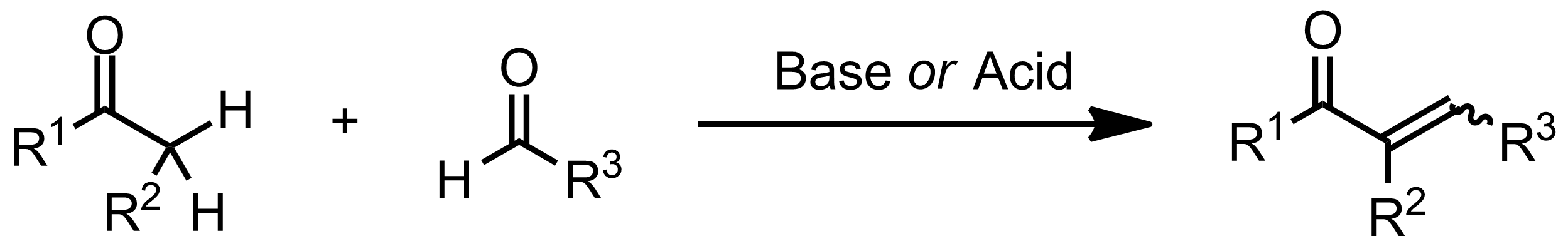 Schematic representation of the Claisen-Schmidt Condensation.
