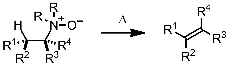 Schematic representation of the Cope Elimination.