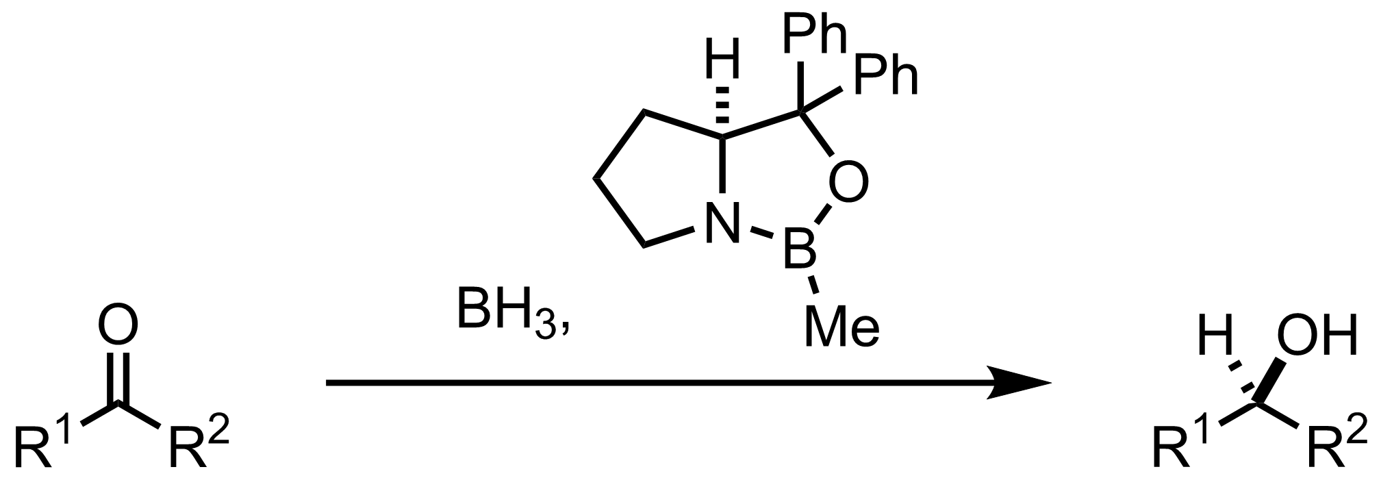 Schematic representation of the Corey-Itsuno Reaction.