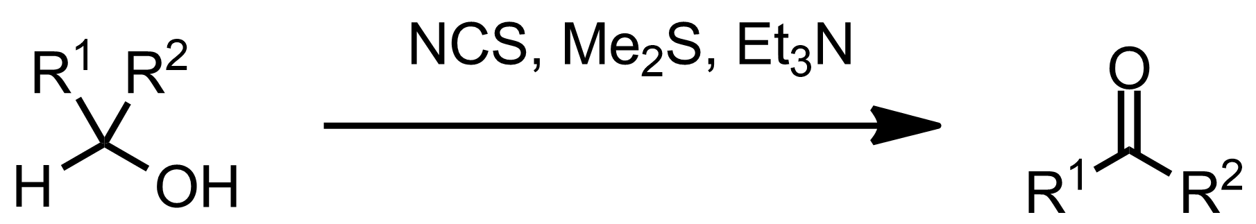 Schematic representation of the Corey-Kim Oxidation.