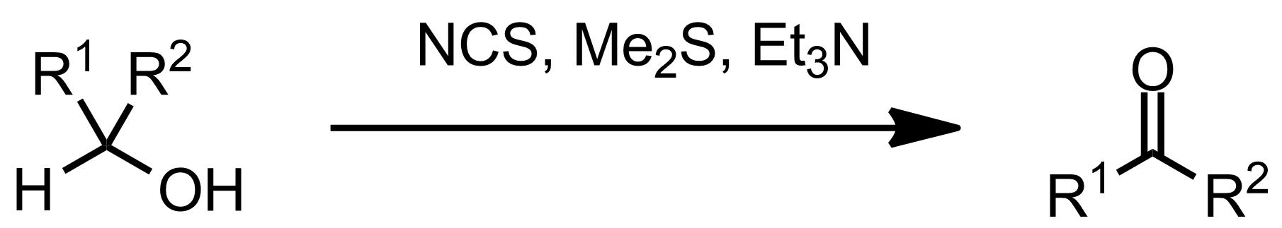 Schematic representation of the Corey-Kim Oxidation.