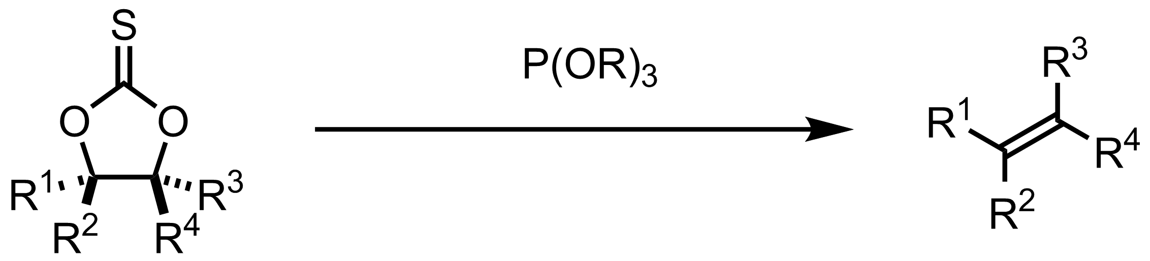 Schematic representation of the Corey-Winter Olefin Synthesis.