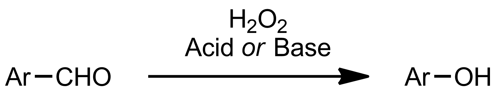 Schematic representation of the Dakin Oxidation.
