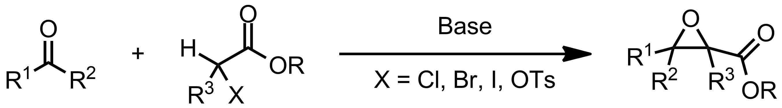 Schematic representation of the Darzens Condensation.